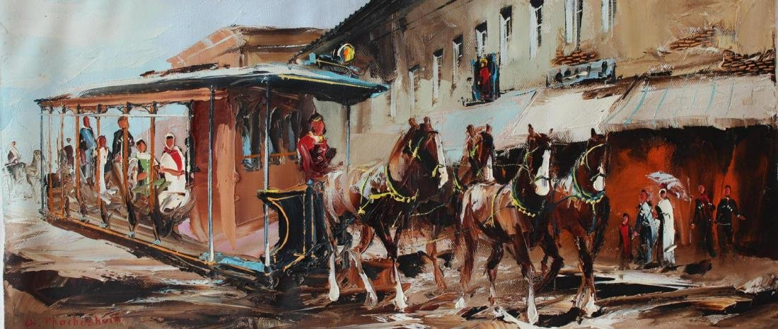"Shalva Phachoshvili ""Long Journey Home"" Oil on Canvas"