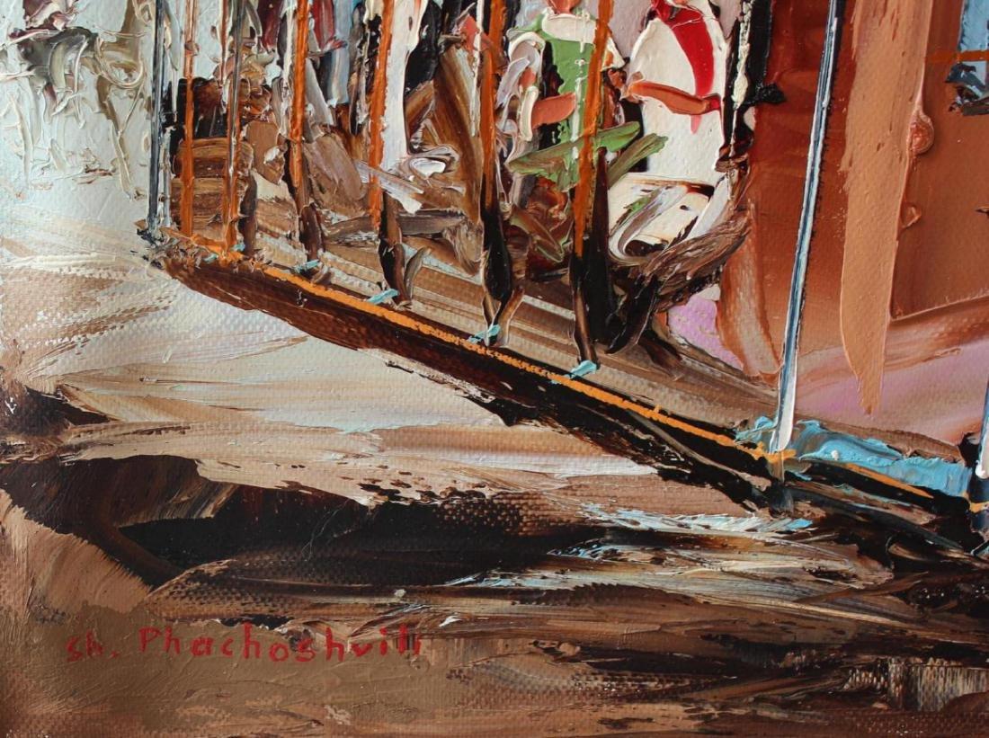 "Shalva Phachoshvili ""Long Journey Home"" Oil on Canvas - 2"