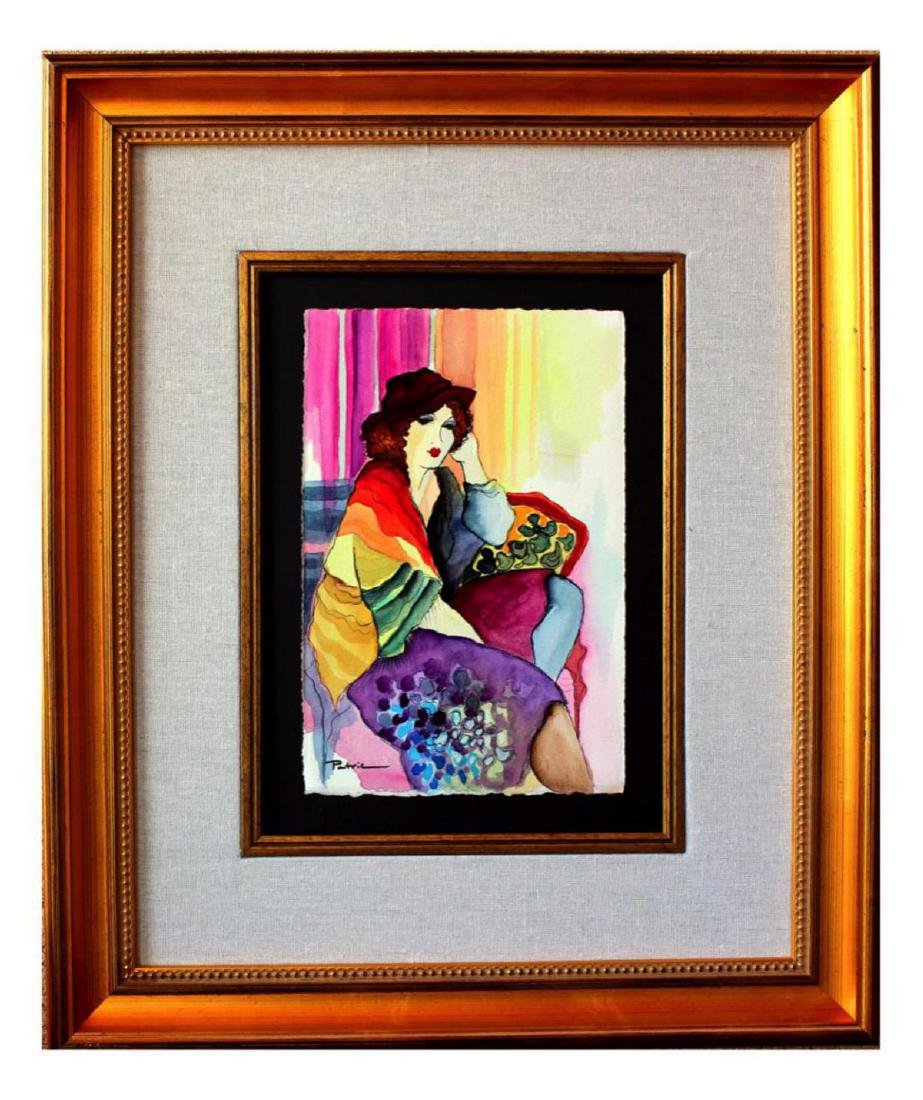 Deluxe Musuem Framed Patricia Govezensky Watercolor