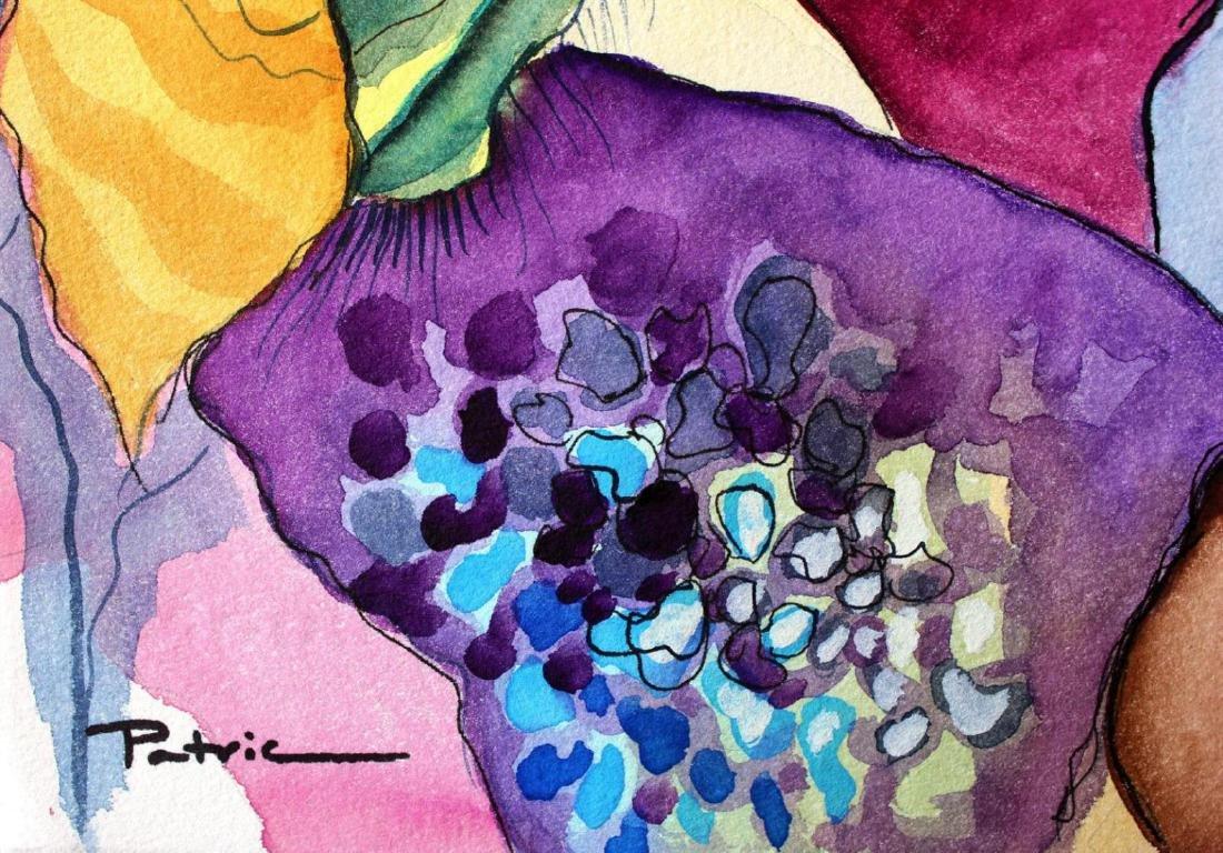 Deluxe Musuem Framed Patricia Govezensky Watercolor - 2