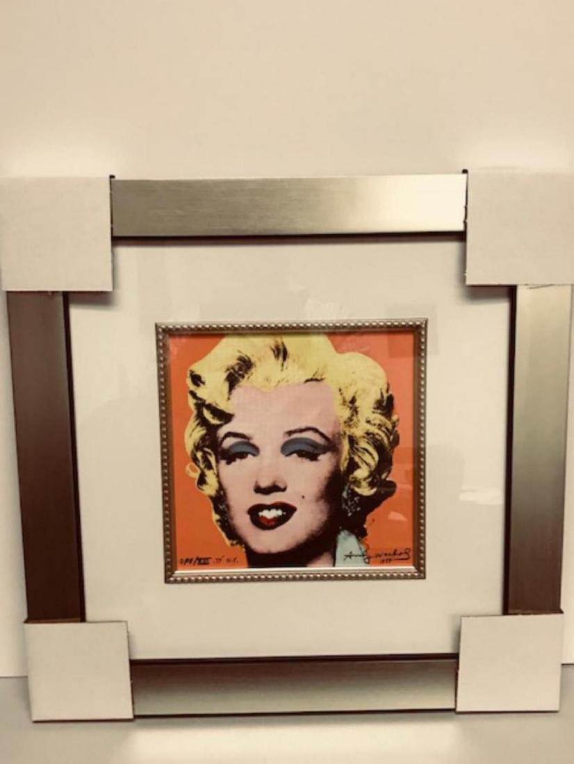 Andy Warhol Custom Framed Print Limited Edition S&N