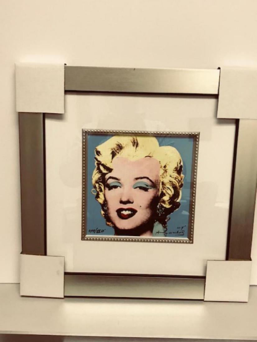 Andy Warhol Custom Framed Print Limited Edition S&N