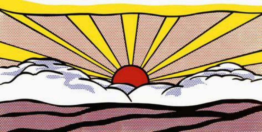 "Roy Lichtenstein ""Sunrise, c.1965"" Offset Lithograph"