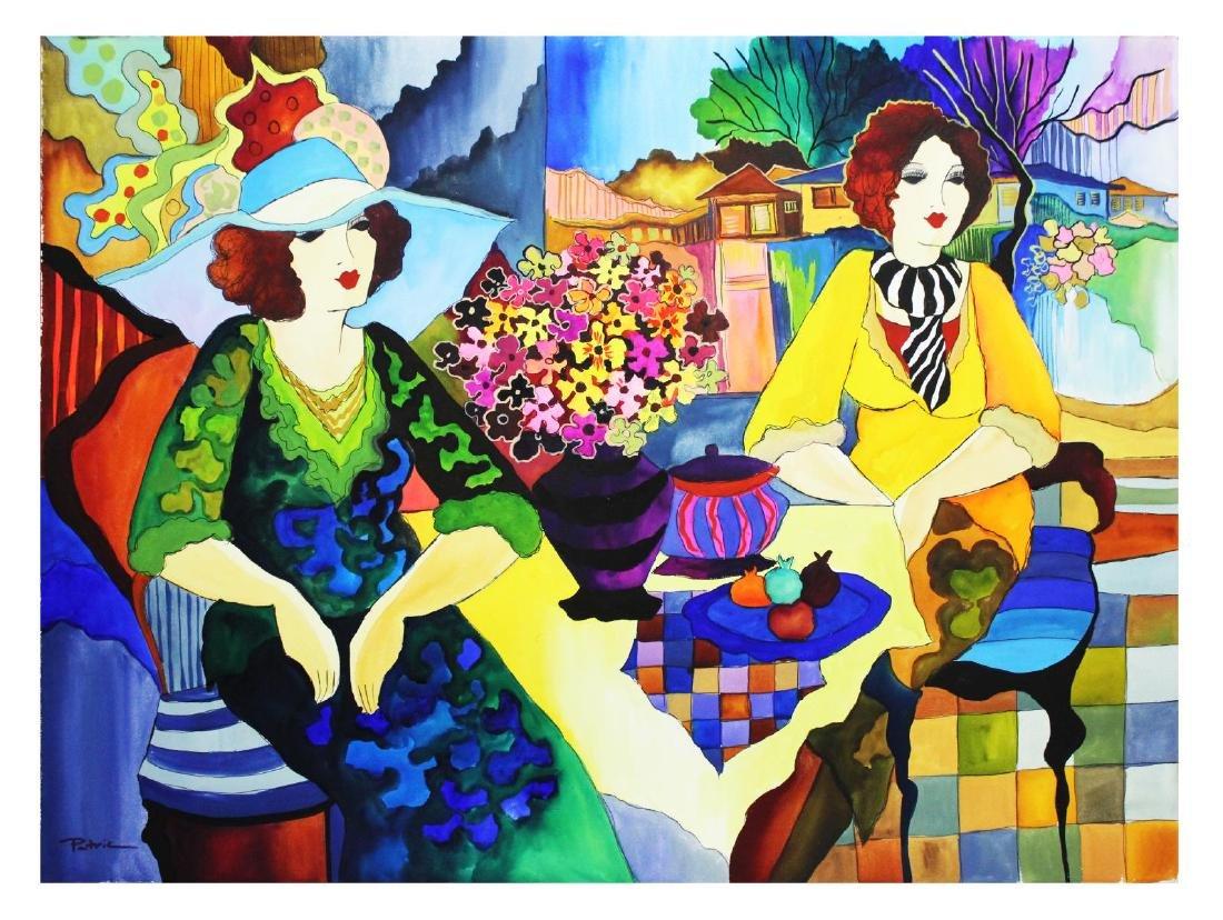 "Patricia Govezensky- Original Watercolor ""A Friend from"