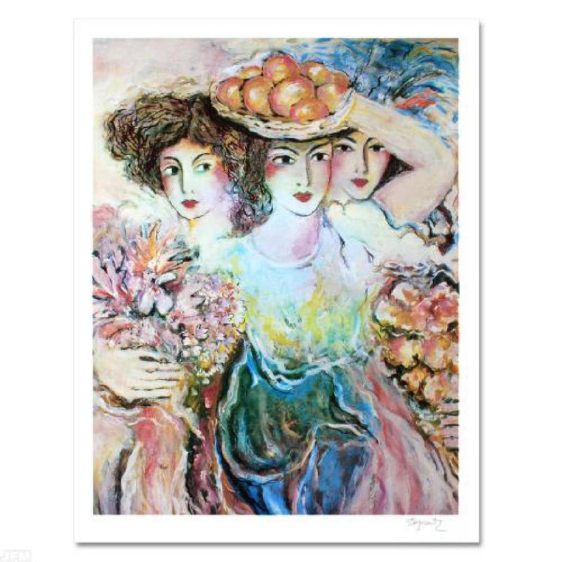 """Three Women"" Limited Edition Lithograph by Zamy"