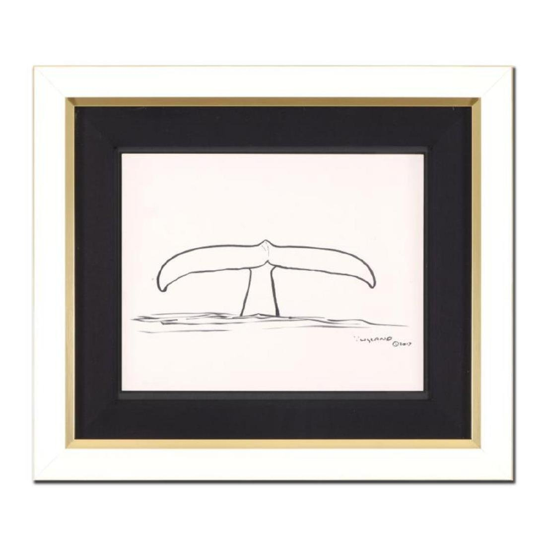 "Wyland - ""Whale Tail"" Framed Original Sketch, Hand"