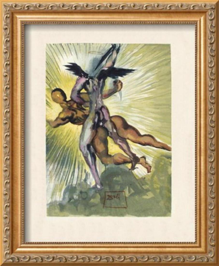 """Salvador Dali """"Divine Comedie, Purgatoire 08: Les anges"""
