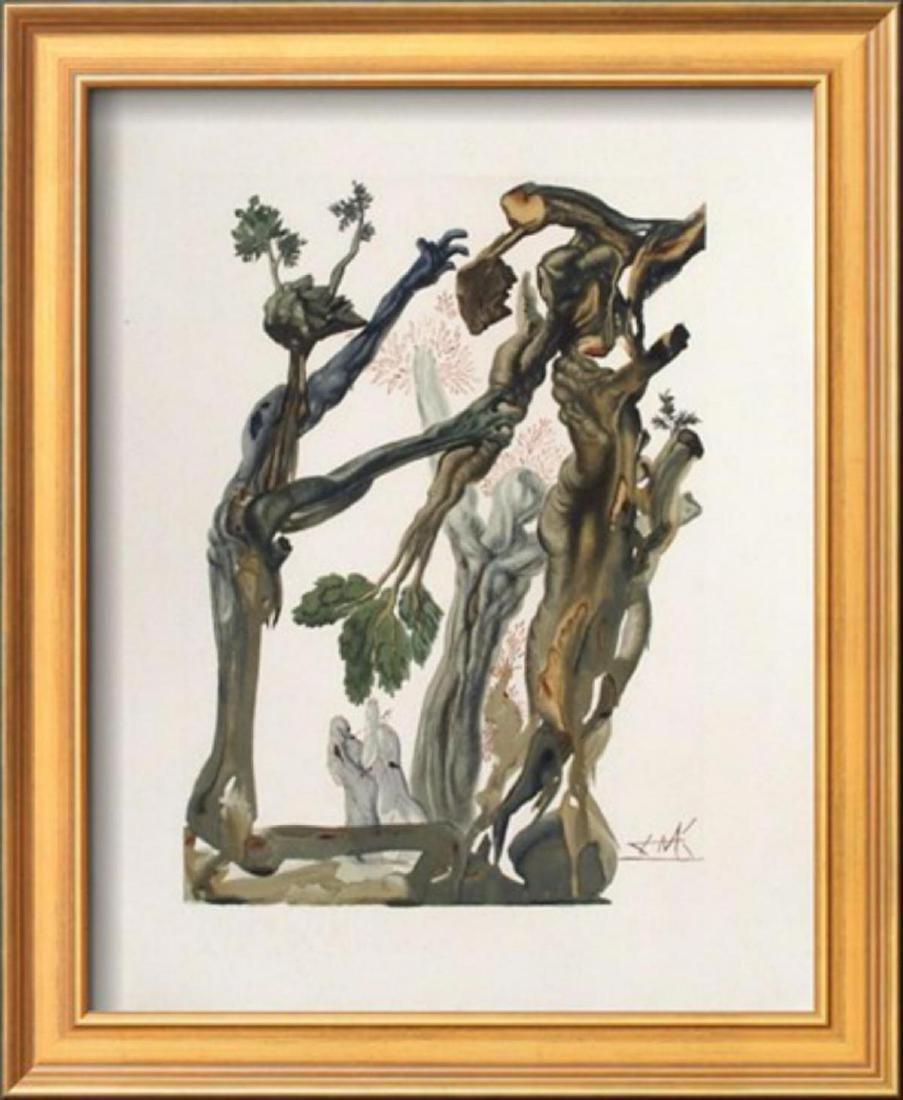 "Salvador Dali ""Divine Comedie, Enfer 13: La Forêt Des"