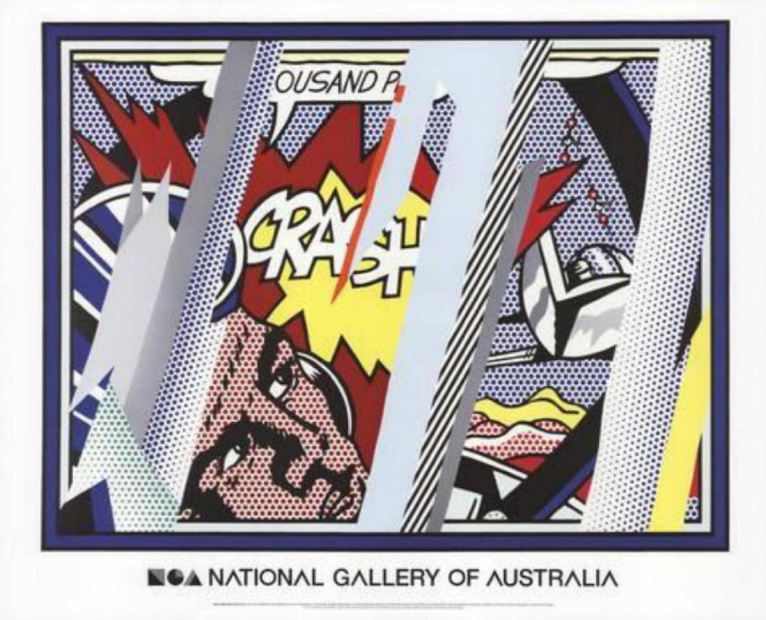 """Roy Lichtenstein """"Reflections on Crash"""" Offset"""