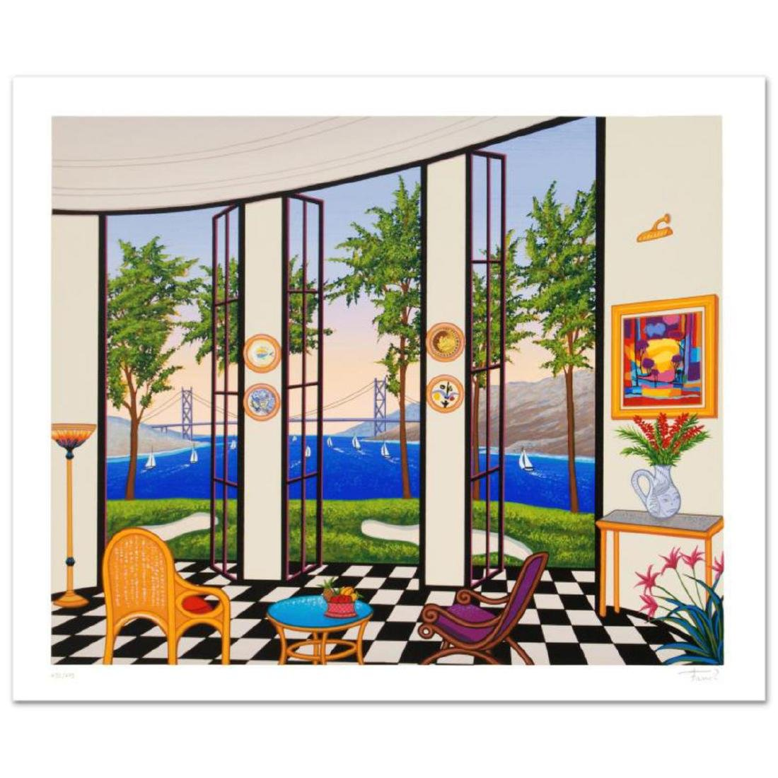 """Black and White Interior"" Limited Edition Serigraph by"