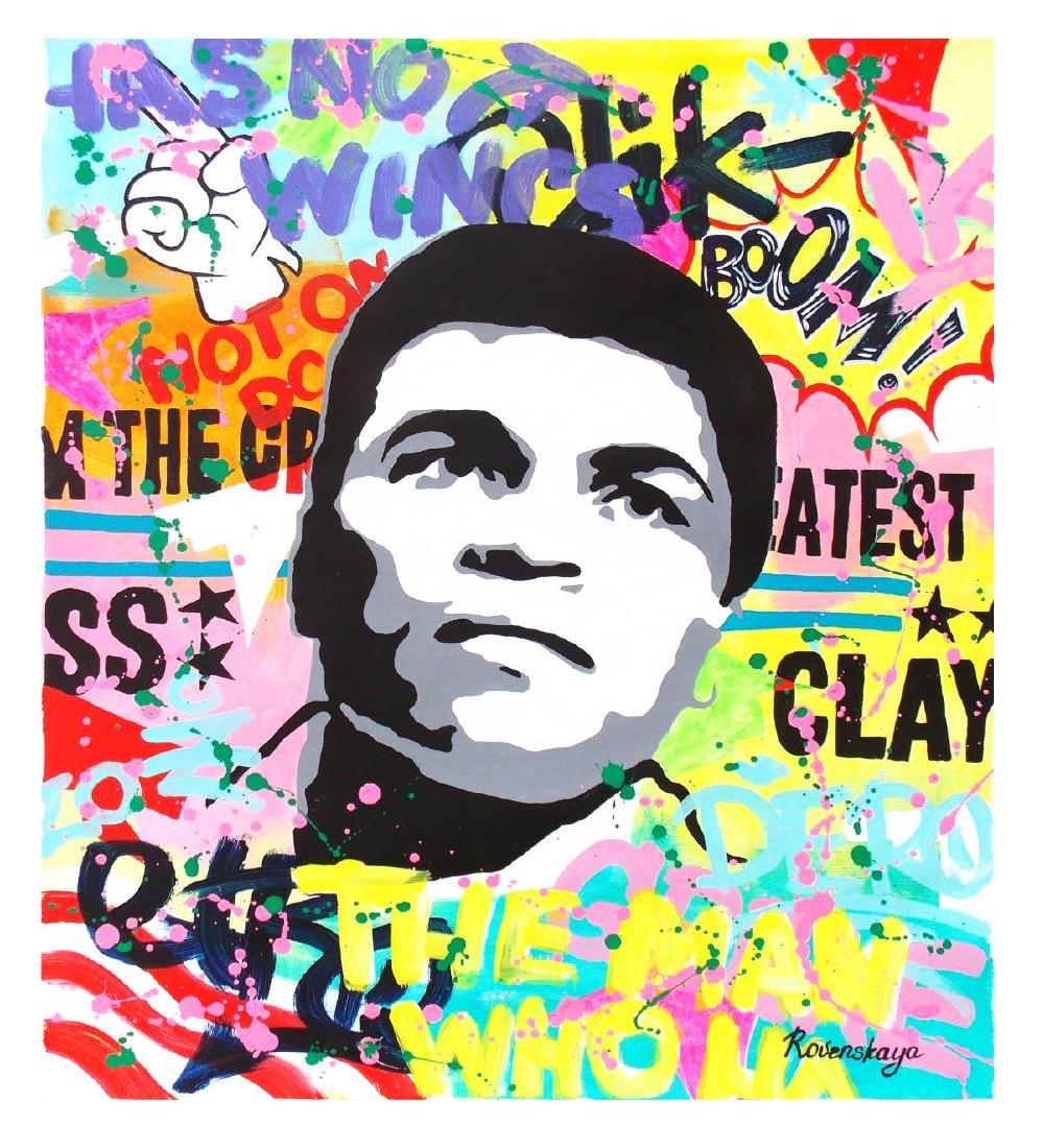 "Nastya Rovenskaya- Original Oil on Canvas ""Sting Like a"