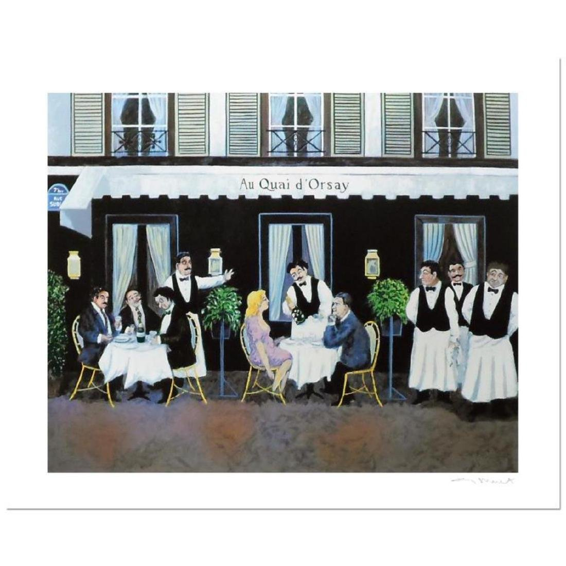 """Guy Buffet - """"Au Qui D Orsay"""" Limited Edition Serigraph;"""