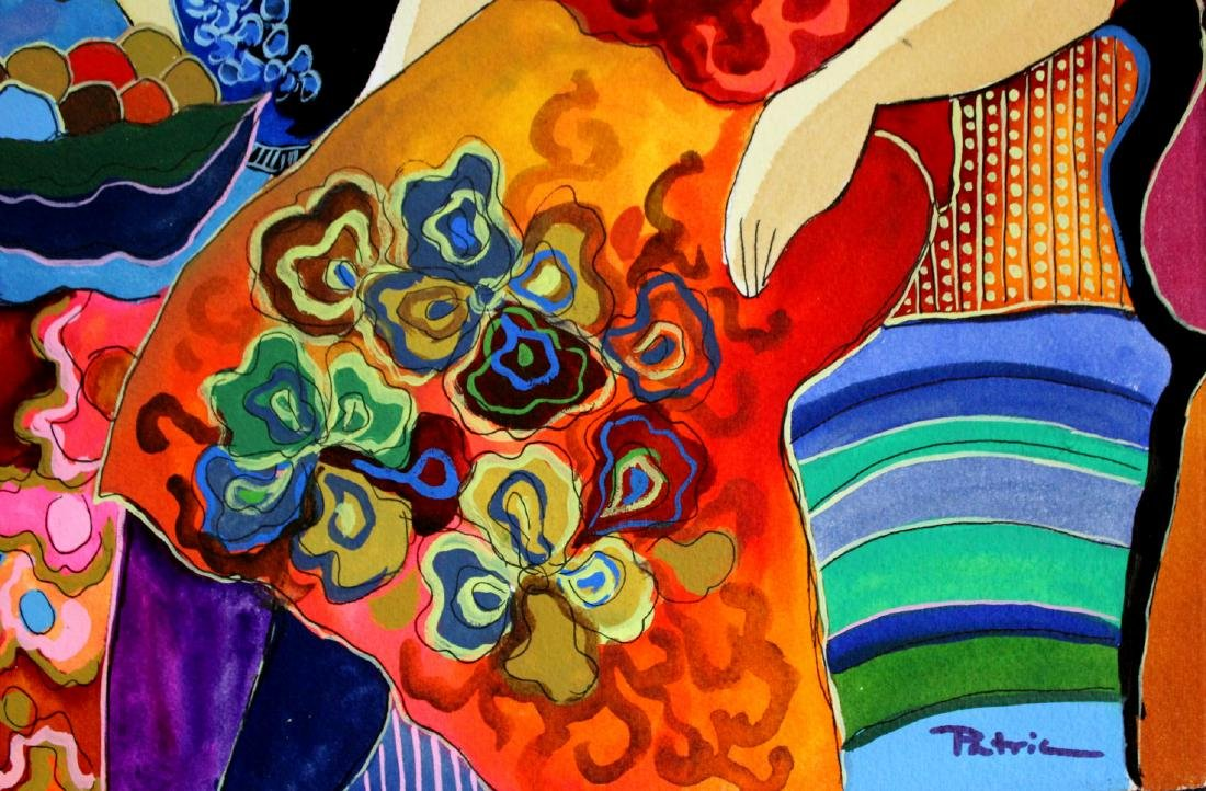 Patricia Govezensky- Original Watercolor with Hand - 3