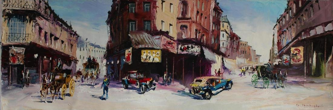 Shalva Phachoshvili ORIGINAL Oil on Canvas My Old City