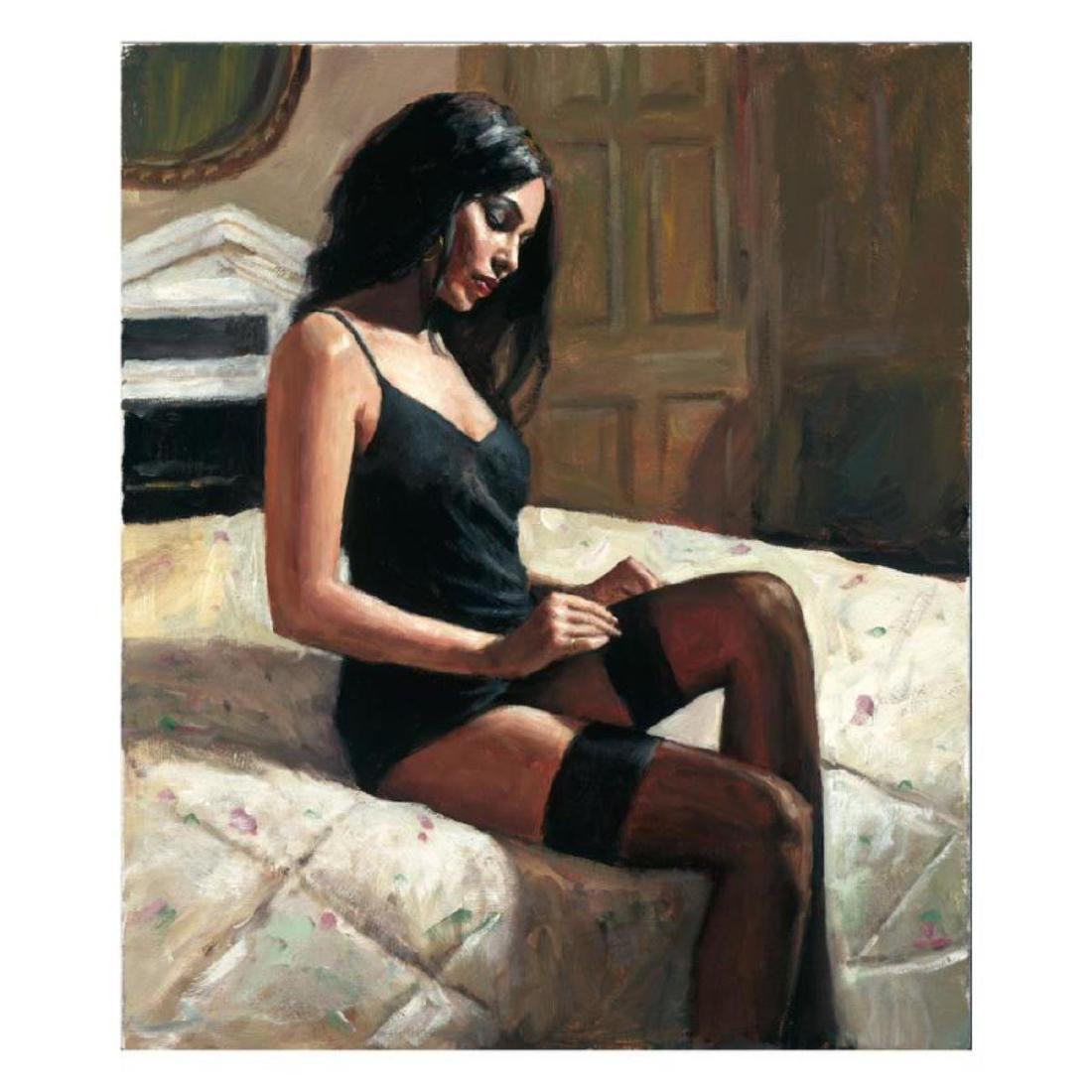 "Fabian Perez ""Kay at the Ritz III"" Hand Embellished"