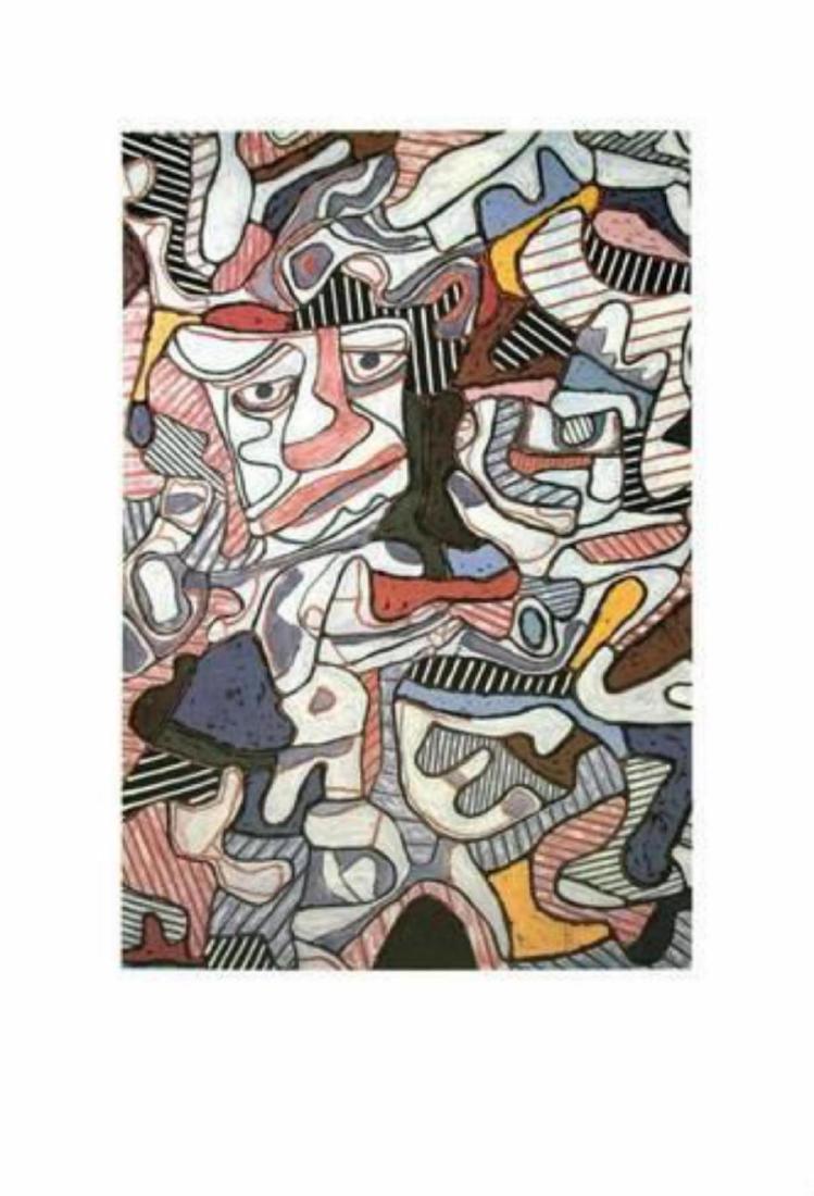 "Jean Dubuffet ""Hourloupe, 1963"" Offset Lithograph"