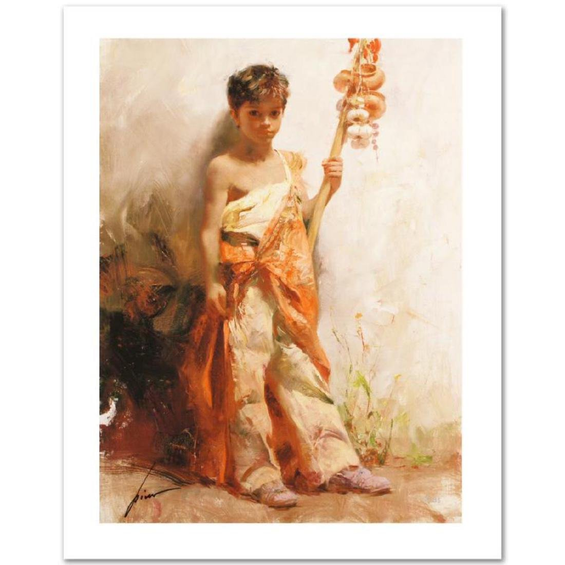 """The Young Peddler"" Limited Edition Giclee by Pino"