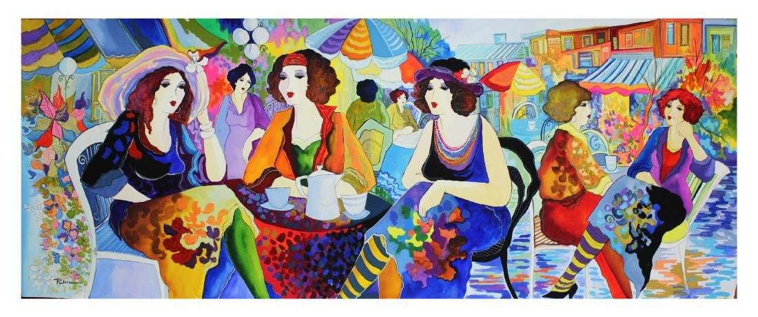 "Patricia Govezensky- Original Watercolor ""Duchess Talk"""