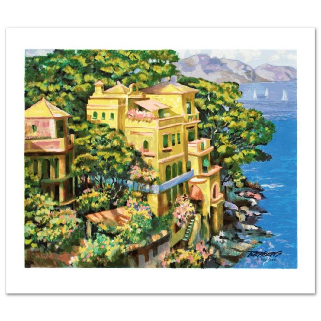 """Villa Portofino"" Limited Edition Serigraph by Howard"