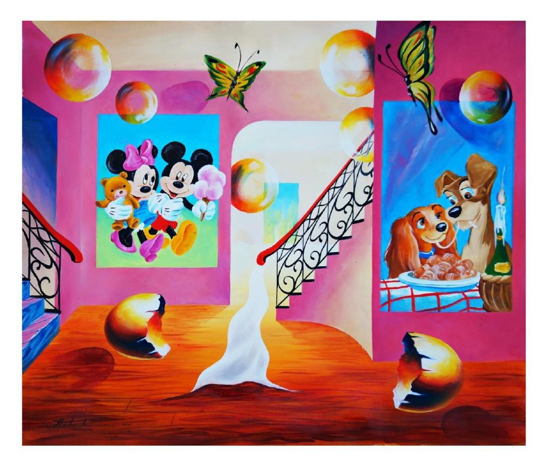 "Alexander Astahov- Original Oil on Canvas ""Ice Cream"""