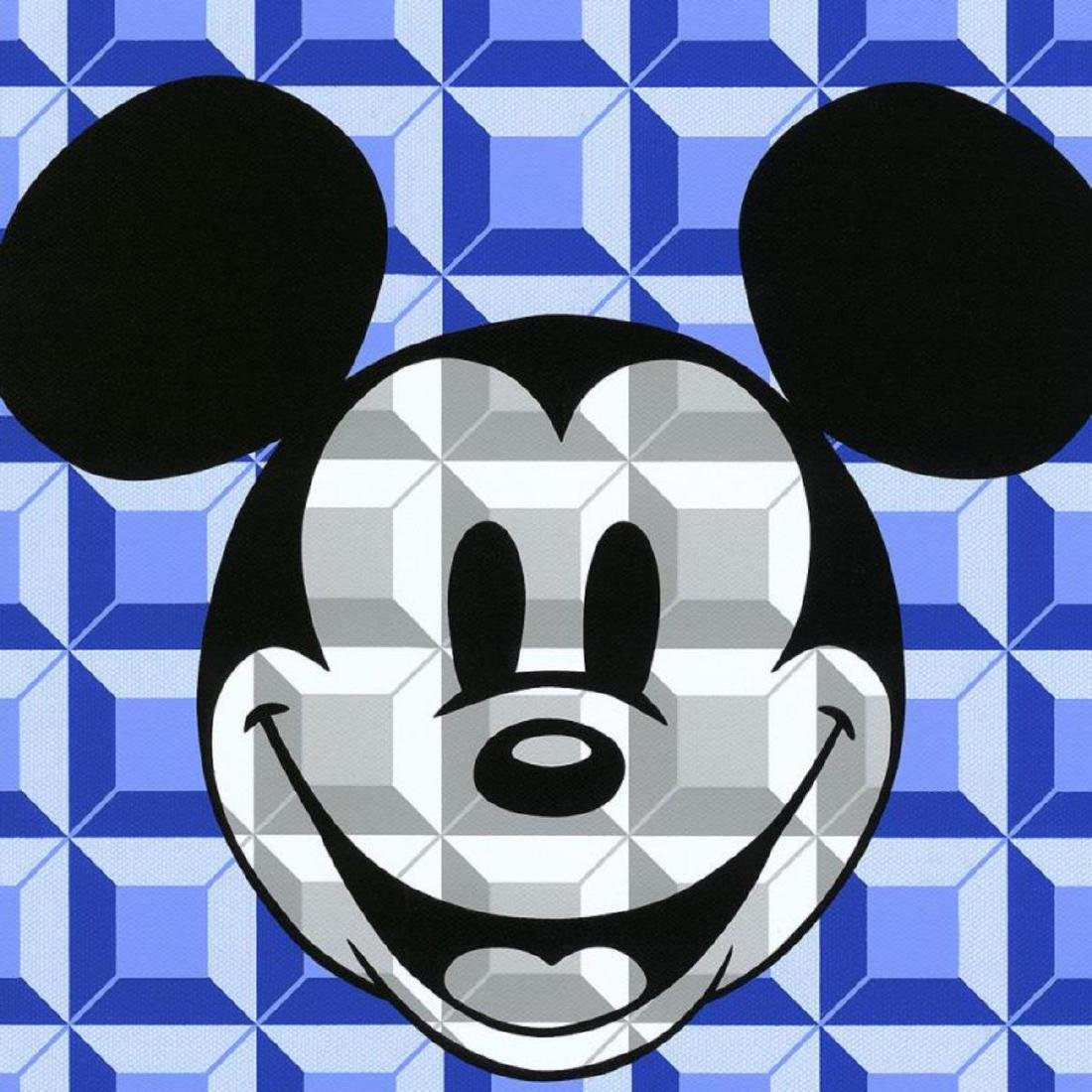 "Tennessee Loveless - ""8-Bit Block Mickey (Blue)"" - 2"