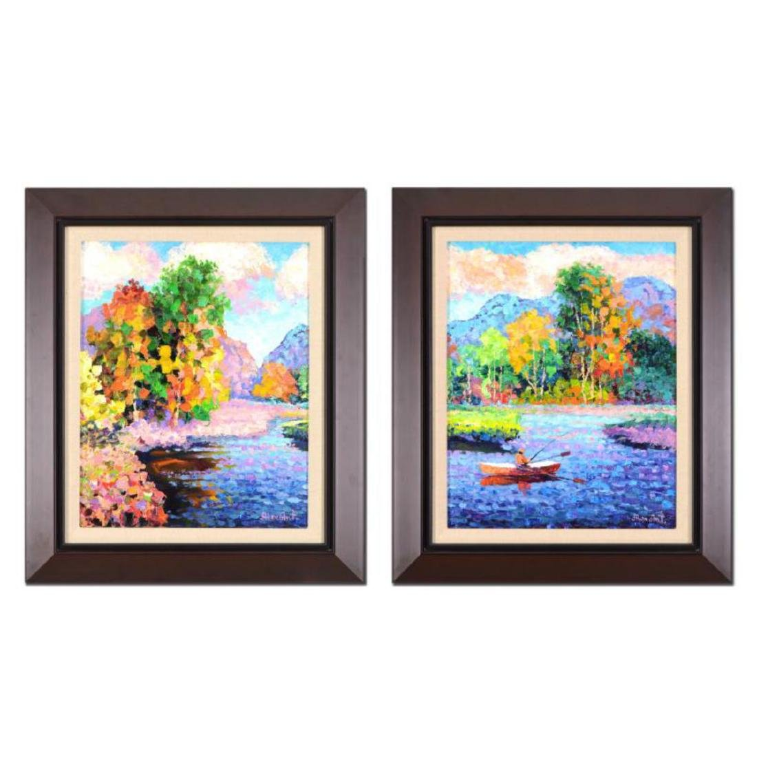 "Alexander Antanenka - ""Cool Waters (Diptych)"" Framed"