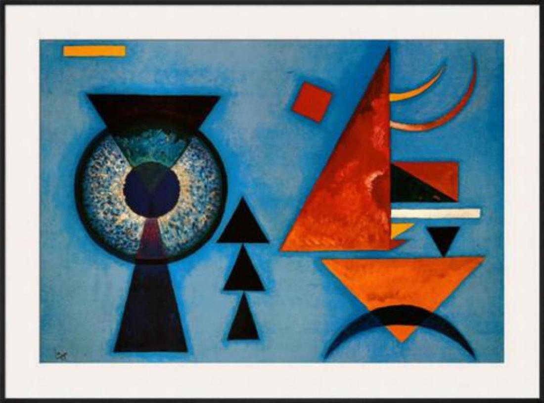 """Wassily Kandinsky """"Weiches Hart"""" Custom Framed Offset"""