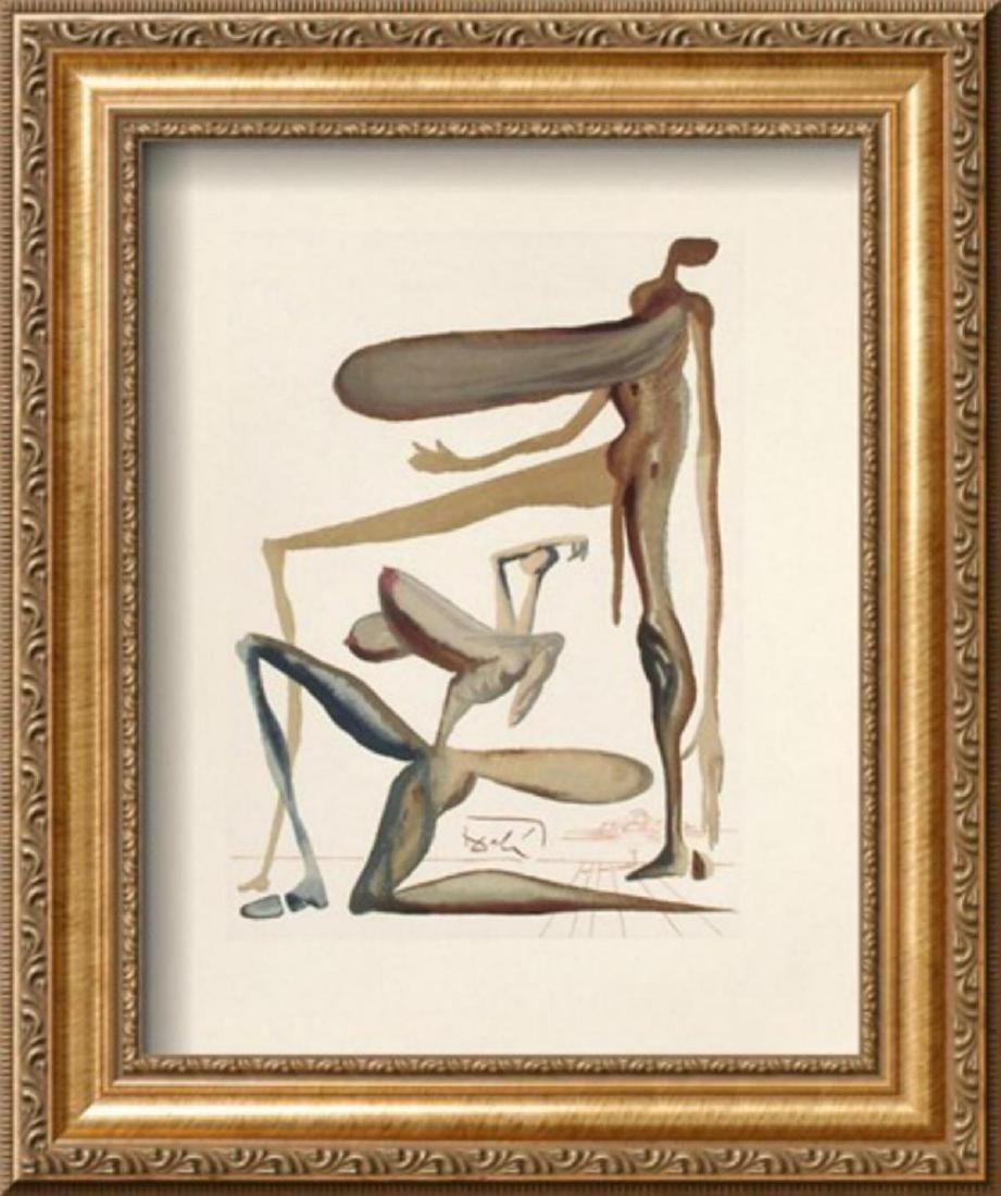 """Salvador Dali """"Divine Comedie, Purgatoire 22: La"""