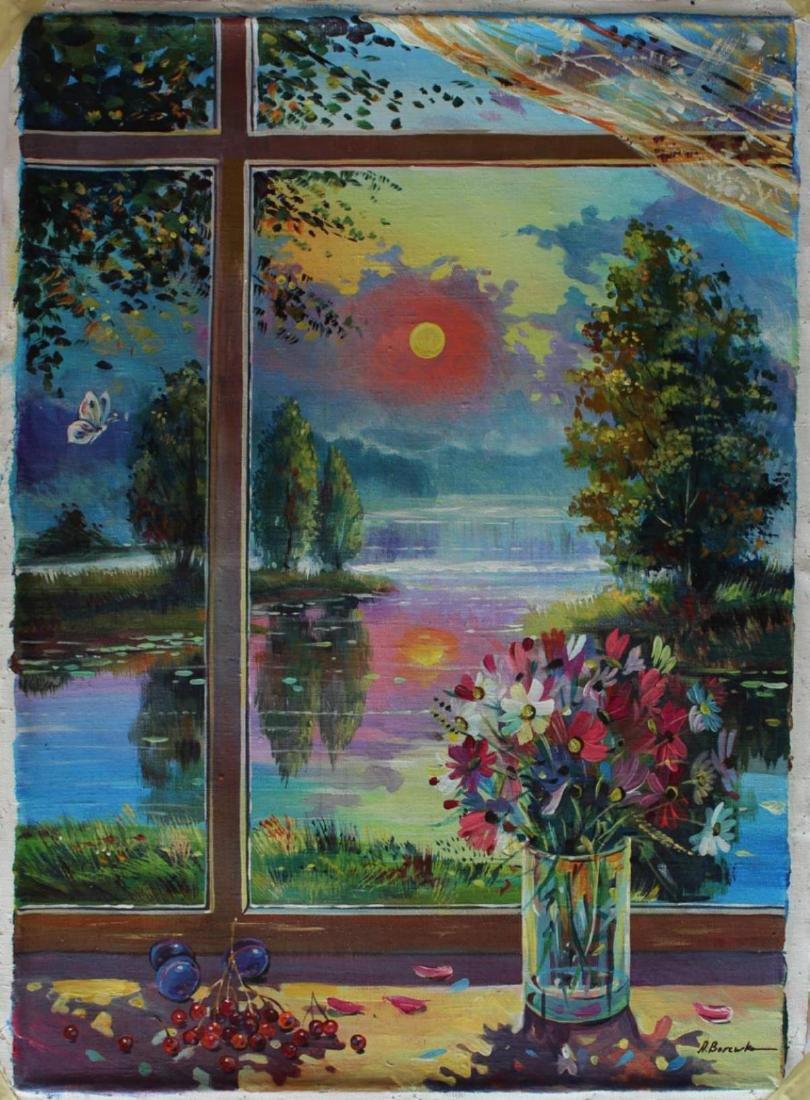 Alexander Borewko Beautiful Day Outside Original Oil