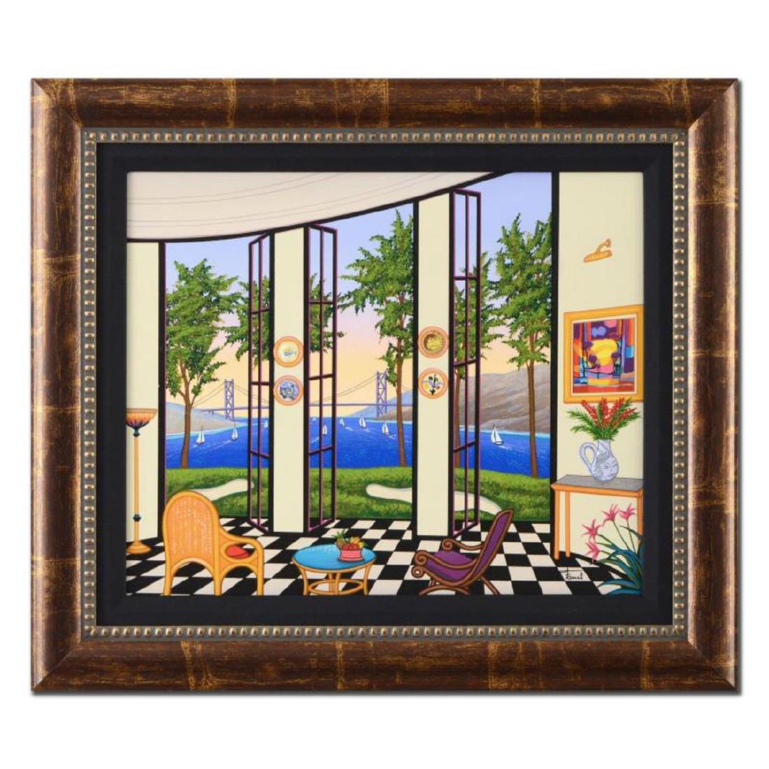 "Fanch Ledan - ""Black and White Interior"" Framed Limited"
