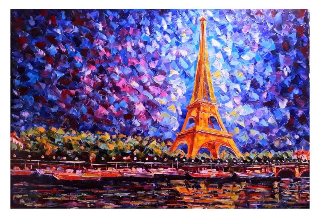 "Svyatoslav Shyrochuk- Original Oil on Canvas ""Eiffel's"