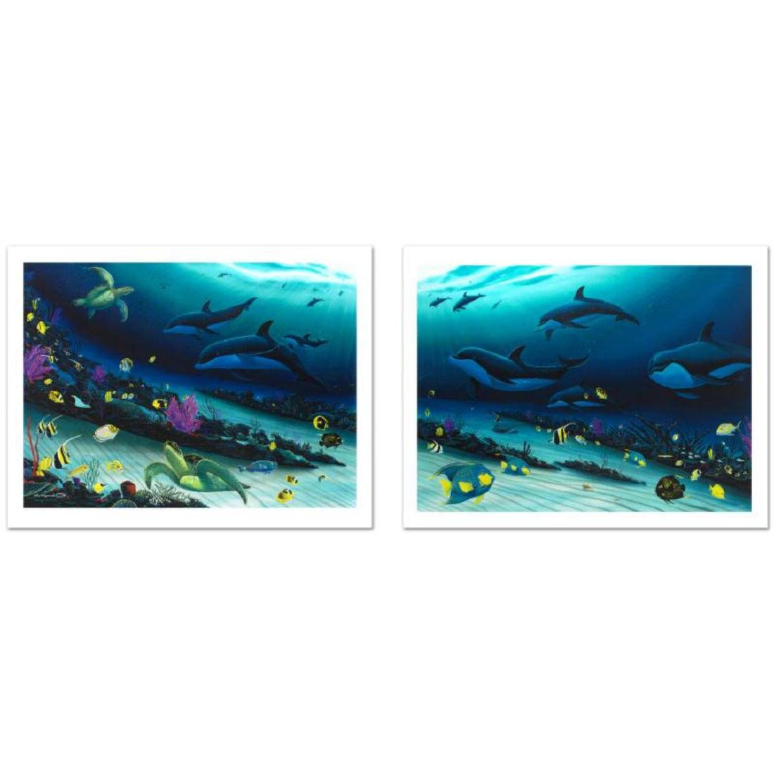 """""""Radiant Reef"""" Limited Edition Giclee Diptych on Canvas"""
