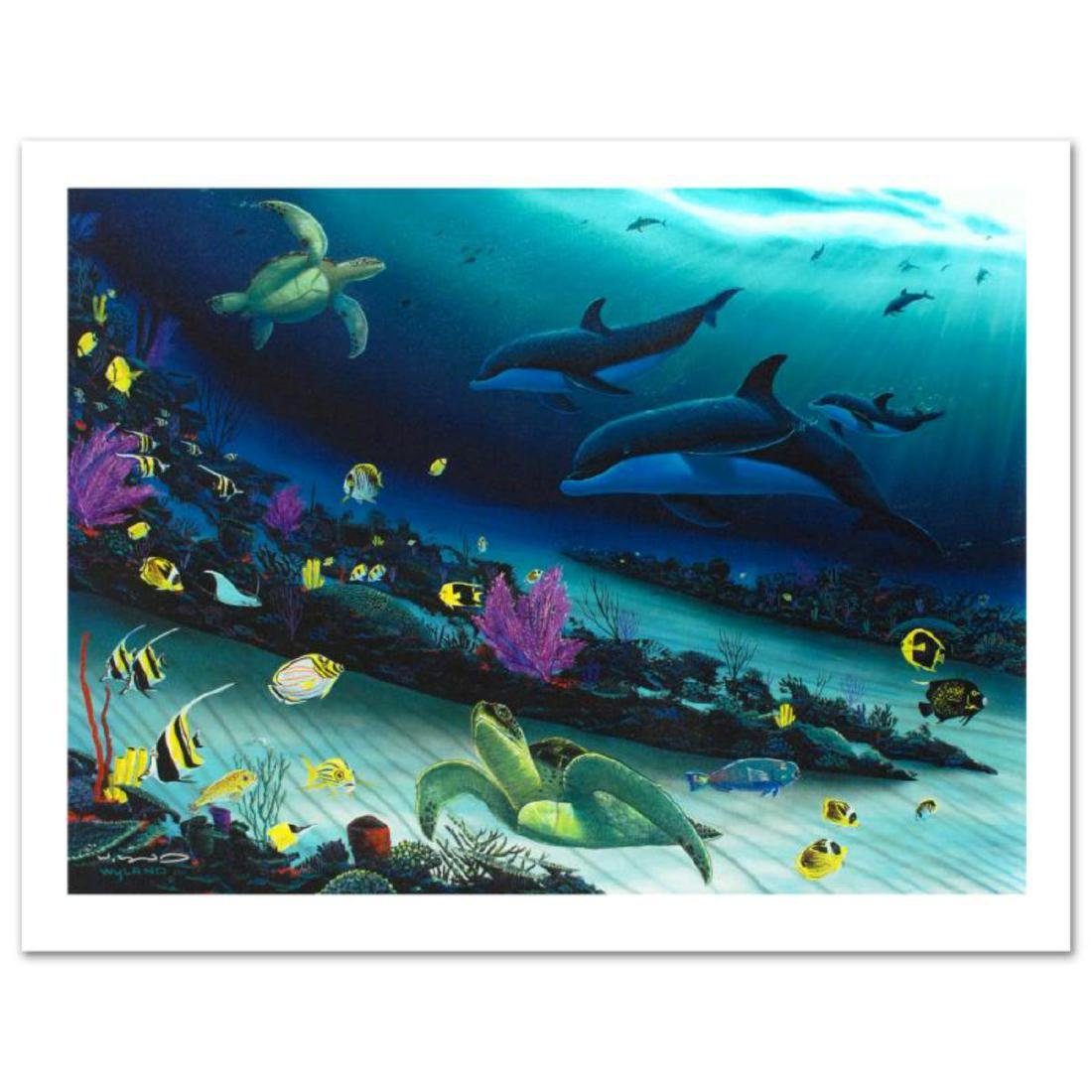 """""""Radiant Reef"""" Limited Edition Giclee Diptych on Canvas - 2"""
