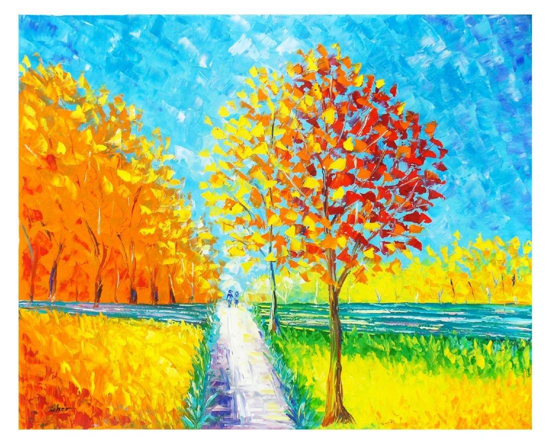 "Svyatoslav Shyrochuk- Original Oil on Canvas ""Sunny"