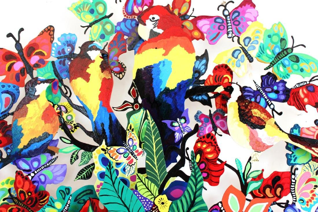 Patricia Govezensky- Original Painting on Cutout Steel - 7