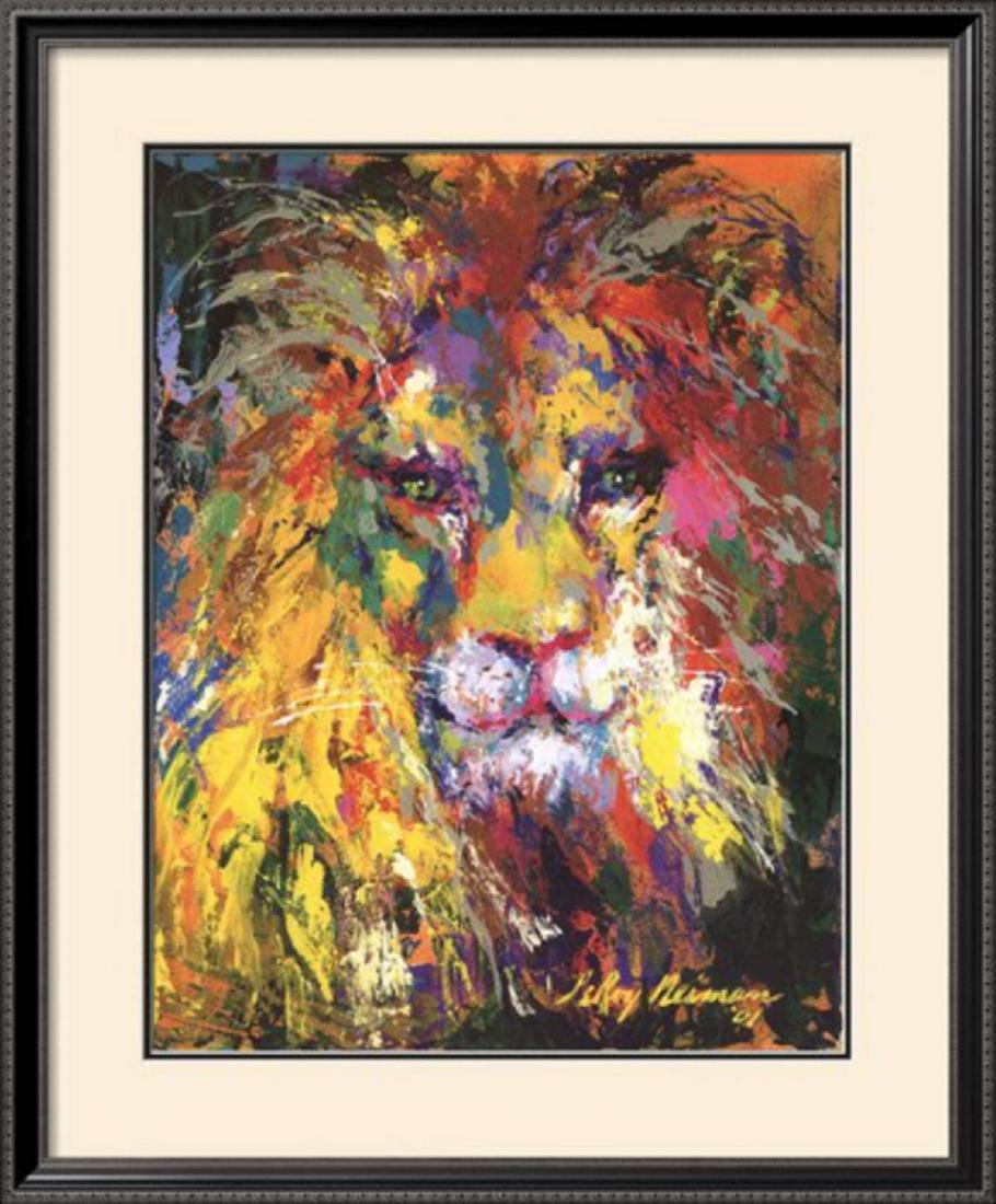 "LeRoy Neiman ""Lion"" Custom Framed Offset Lithograph"
