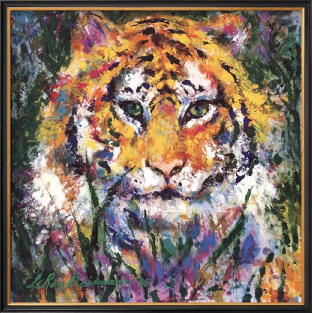 "LeRoy Neiman ""Tiger"" Custom Framed"