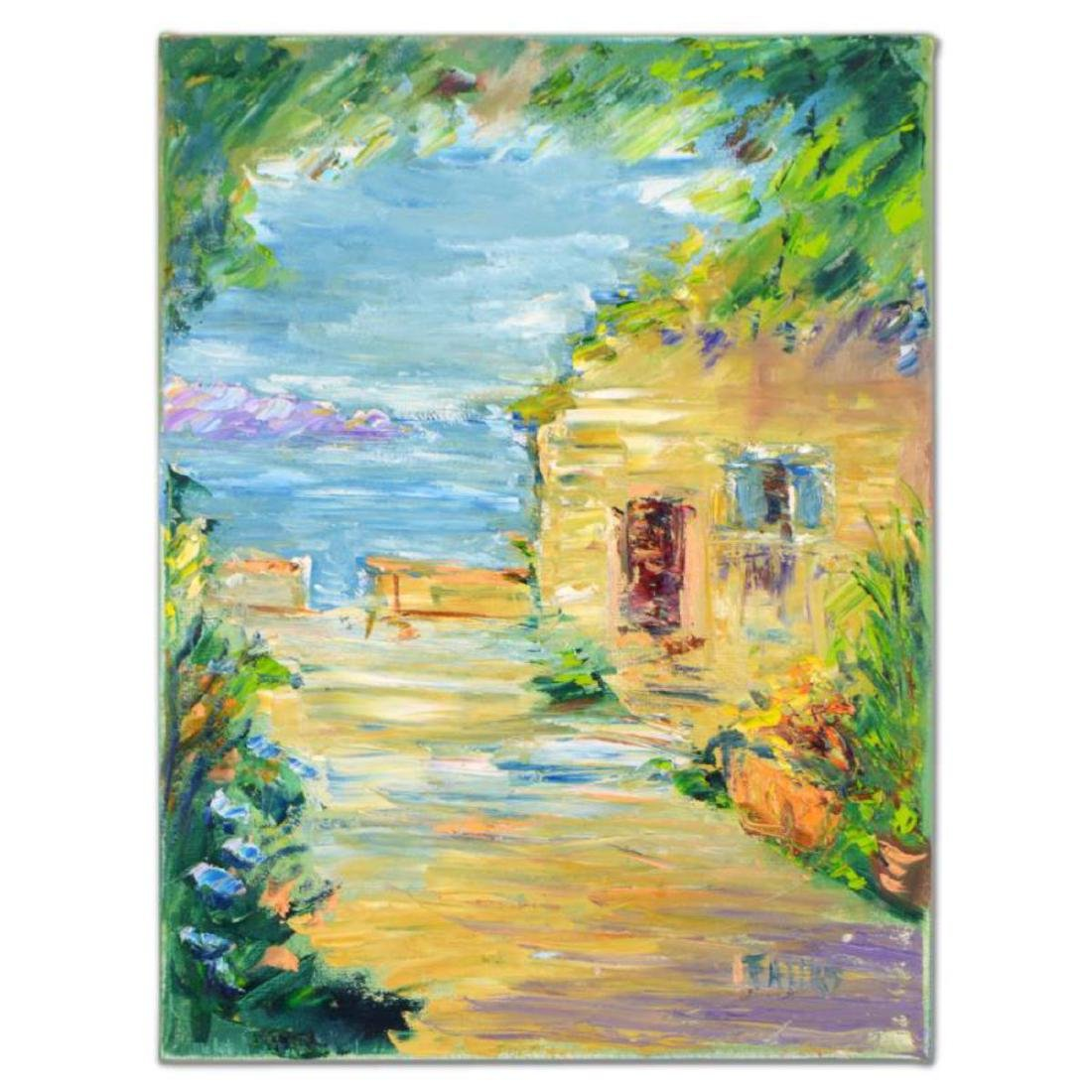 "Elliot Fallas - ""Villa Garden"" Original Oil Painting on"
