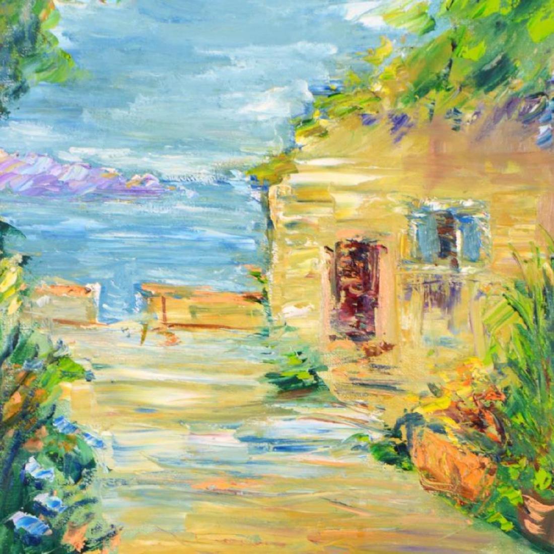 "Elliot Fallas - ""Villa Garden"" Original Oil Painting on - 2"