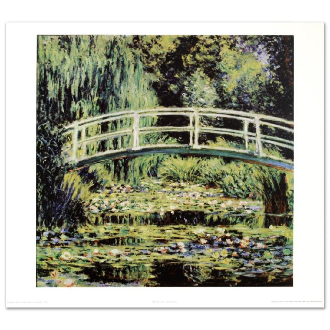 """White Waterlilies"" Fine Art Print by Monet"