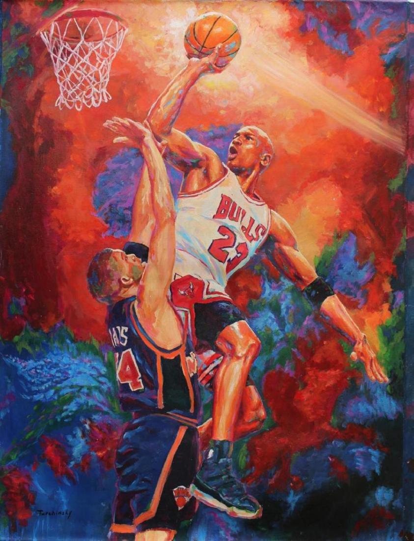 Turchinskiy Dmitriy Original Oil on Canvas- Unstoppable