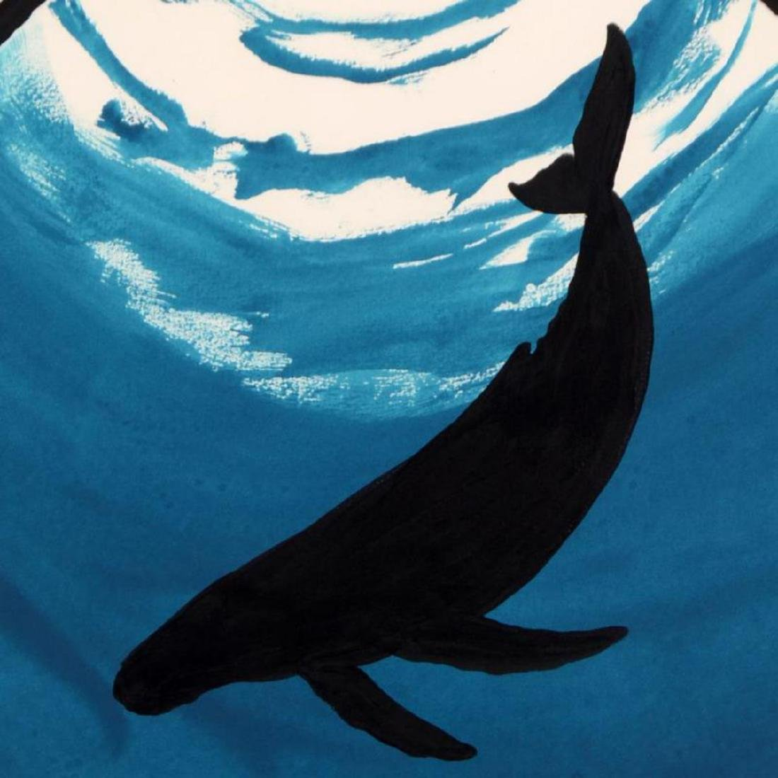 """Wyland -""""Whale"""" Framed Original Watercolor Painting, - 2"""