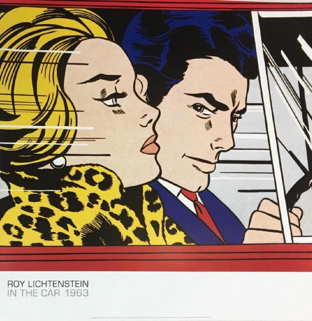 "ROY LICHTENSTEIN ""IN THE CAR"" OFFSET LITHOGRAPH ON"
