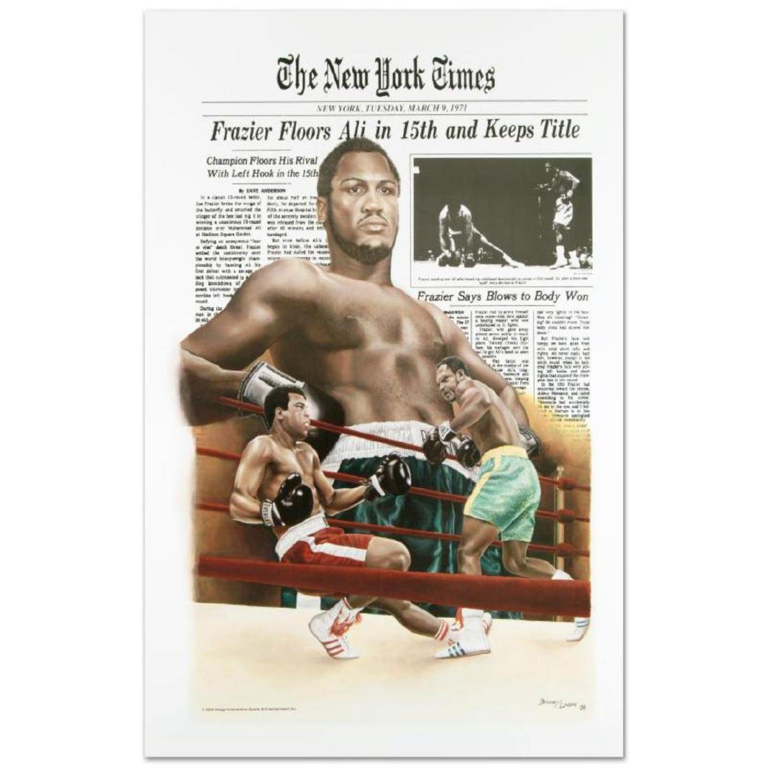 """Frazier Floors Ali"" FINE ART POSTER (26.5"" x 36.5"") of"