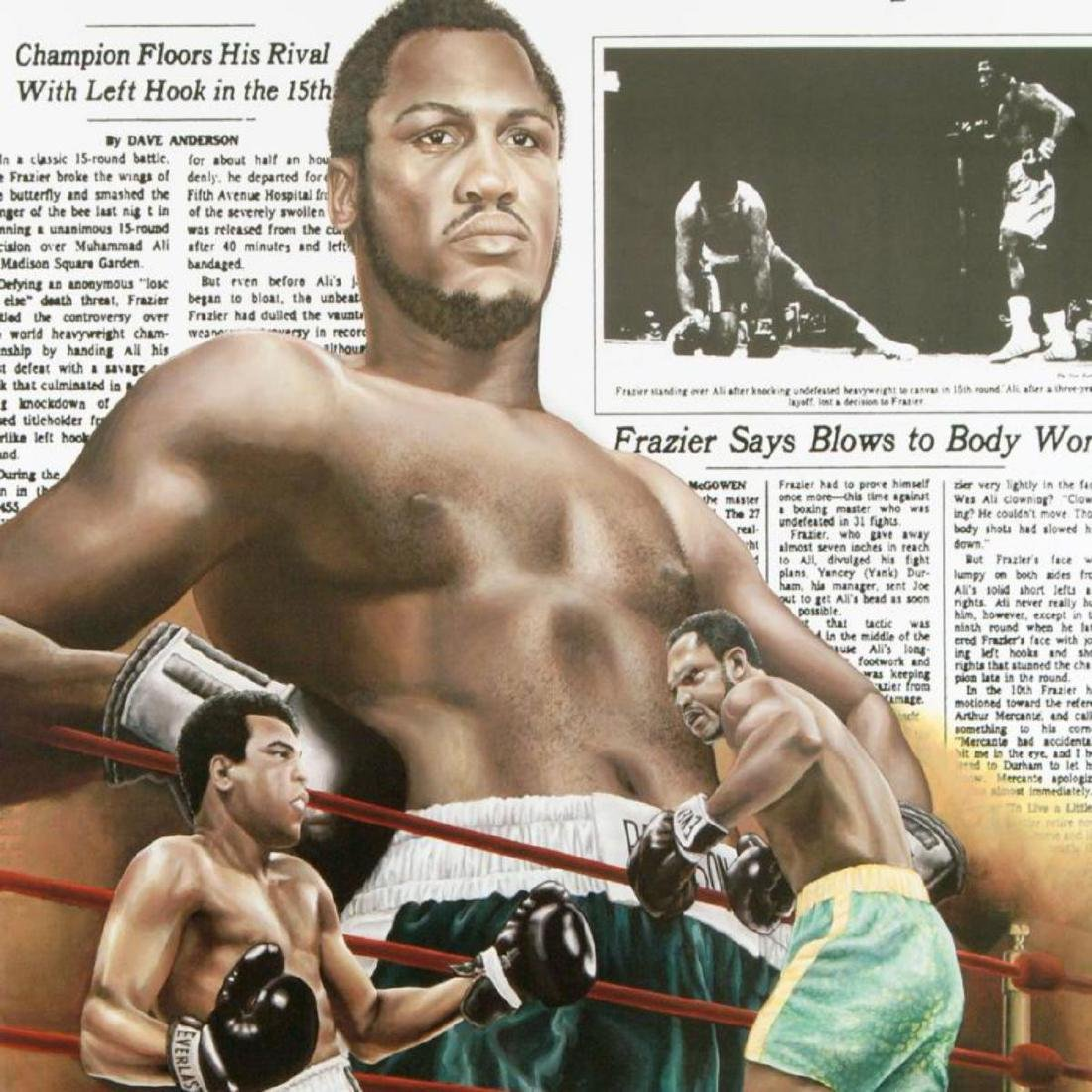 """Frazier Floors Ali"" FINE ART POSTER (26.5"" x 36.5"") of - 2"