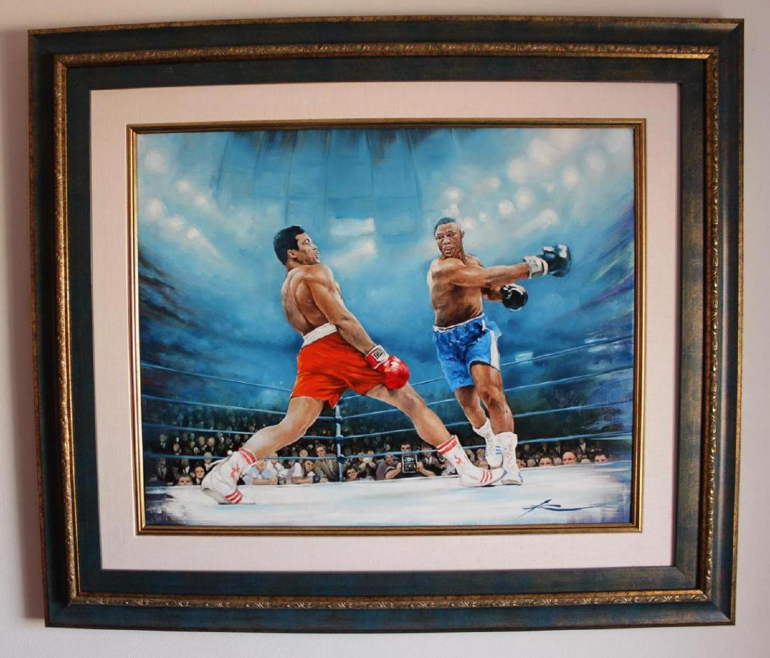 Yevgeniy Korol- Ali vs. Frazier Original Oil on Canvas