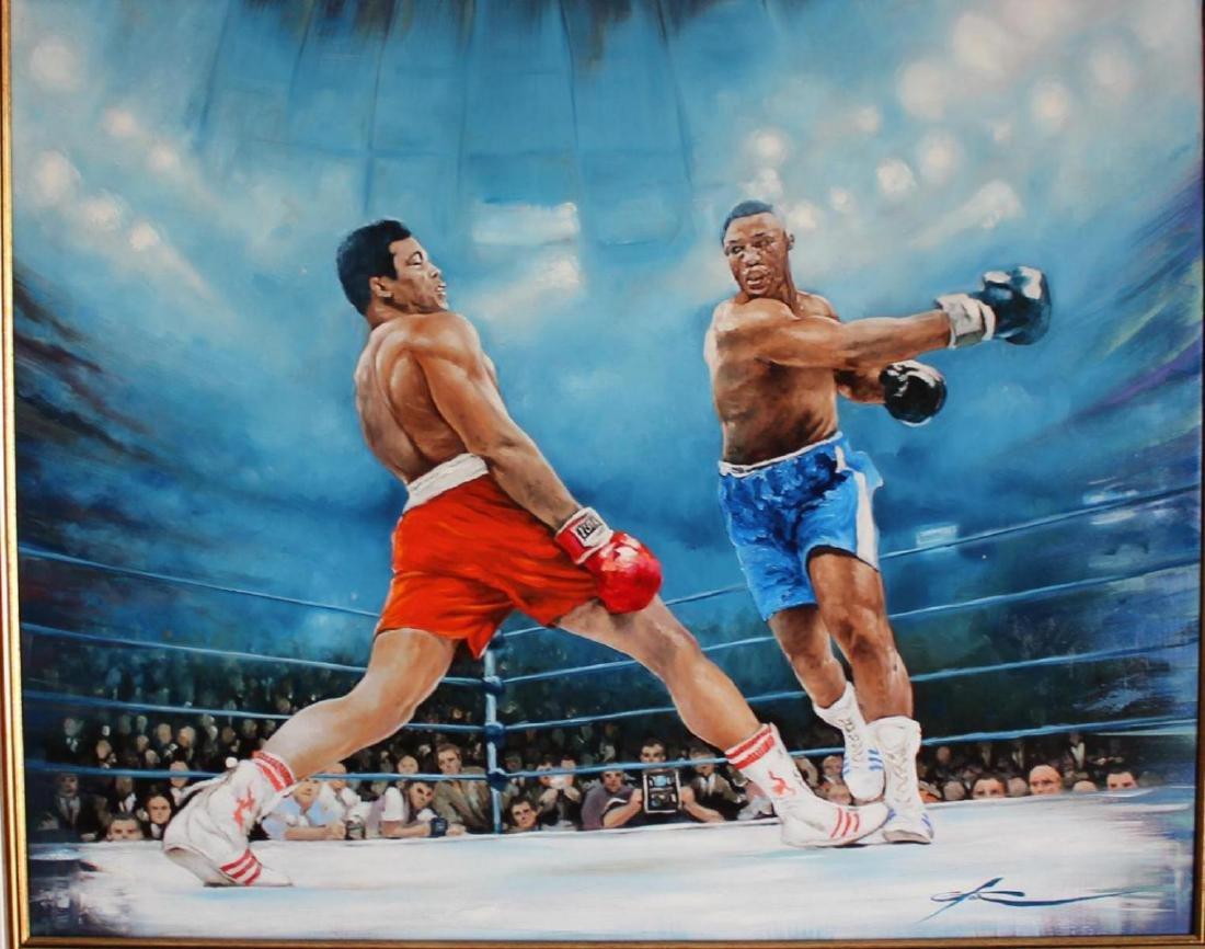 Yevgeniy Korol- Ali vs. Frazier Original Oil on Canvas - 2