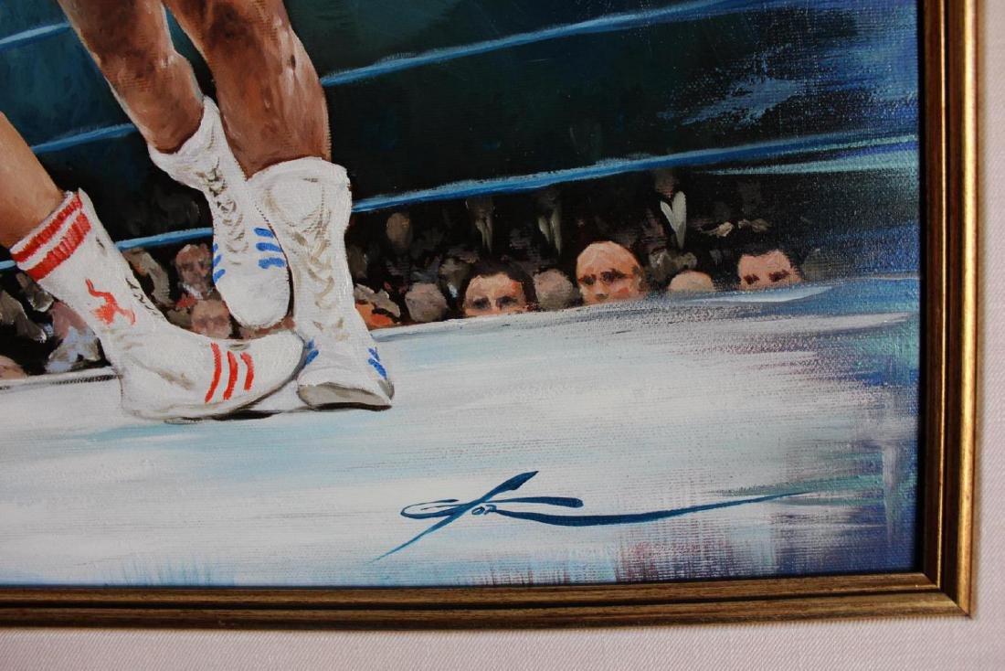 Yevgeniy Korol- Ali vs. Frazier Original Oil on Canvas - 3