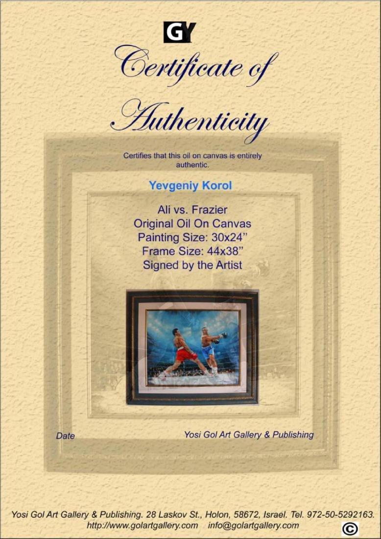 Yevgeniy Korol- Ali vs. Frazier Original Oil on Canvas - 4