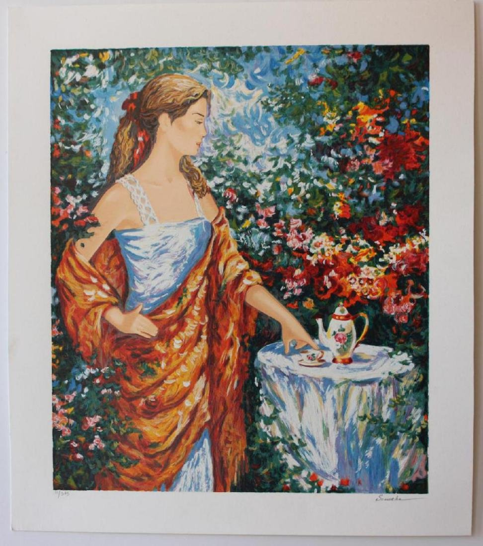 "Igor Semeko Limited Edition Serigraph ""Tea Time"""